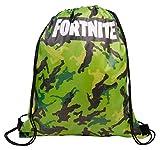 Fortnite Mochila con Cordón | Bolsas con Cordón para La Escuela, Kit De Educación Física, Natación,...
