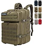 onyorhan Mochila Táctica Militar Molle Camuflaje Assault Pack Tactical Army Backpack / 40L (Verde)